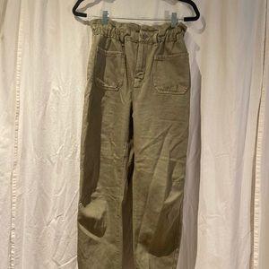 Zara paper bag pants